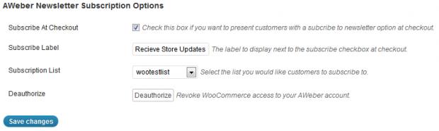 AWeber WooCommerce Plugin setup