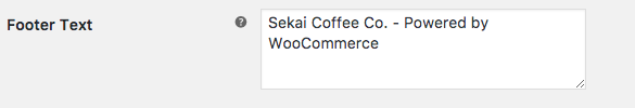 Customize WooCommerce Emails Footer Text