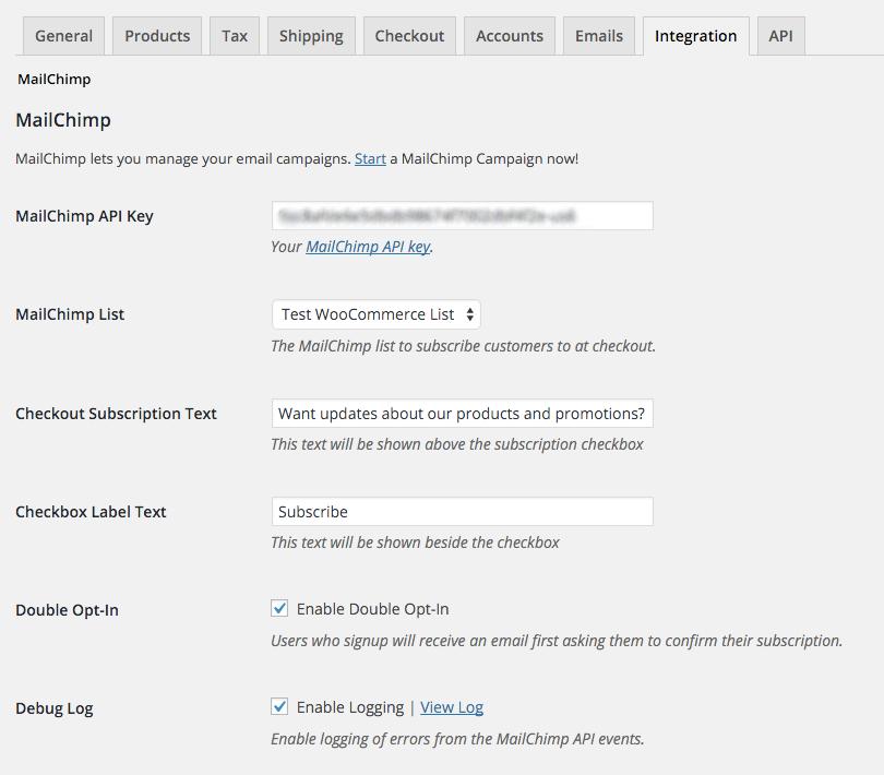 MailChimp WooCommerce Plugin