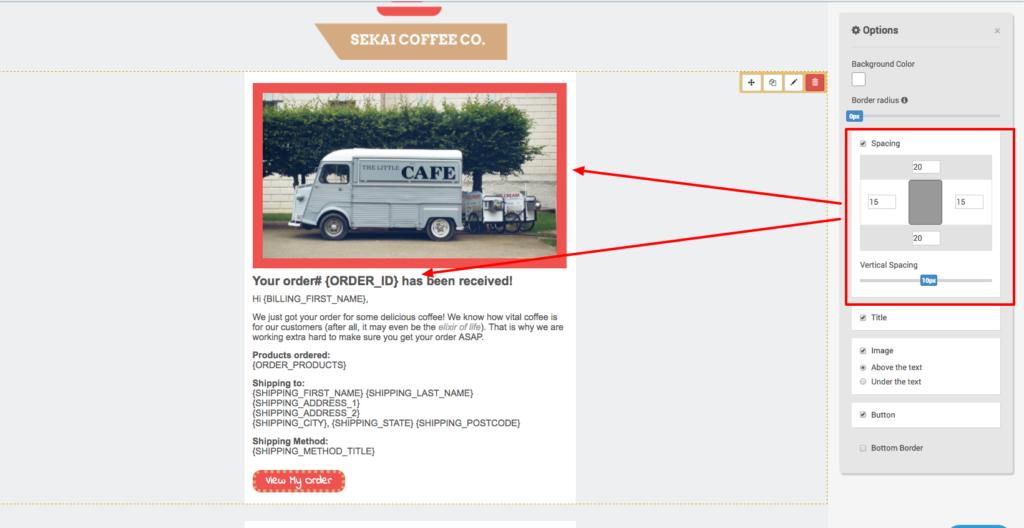 Email Template Designer Improvements - Spacing