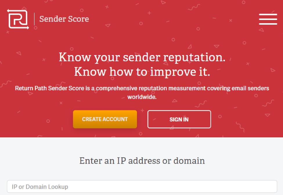 email sender score