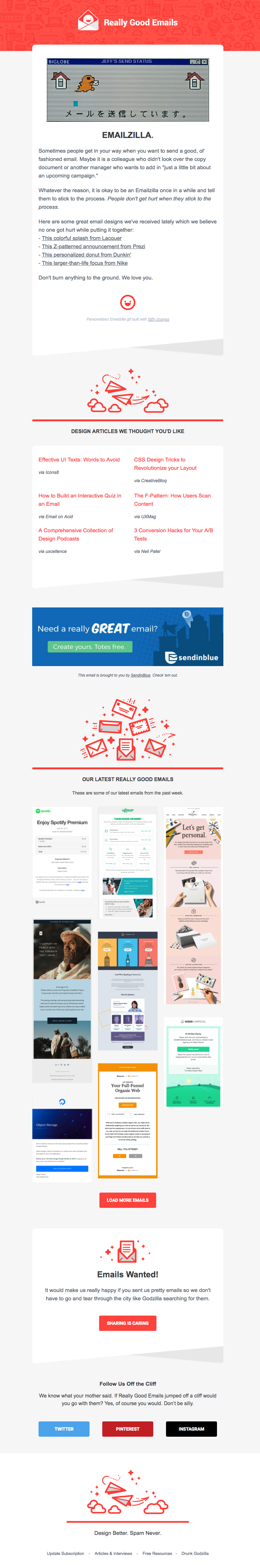 9 Of The Best Newsletter Examples To Inspire You Sendinblue