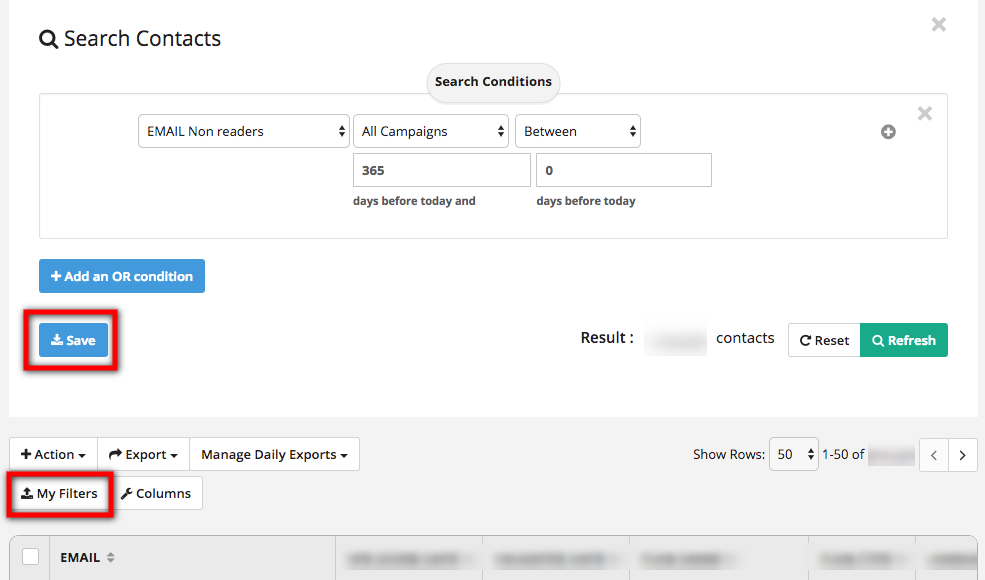 clean out inactive contacts for better deliverability