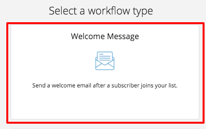 welcome email workflow