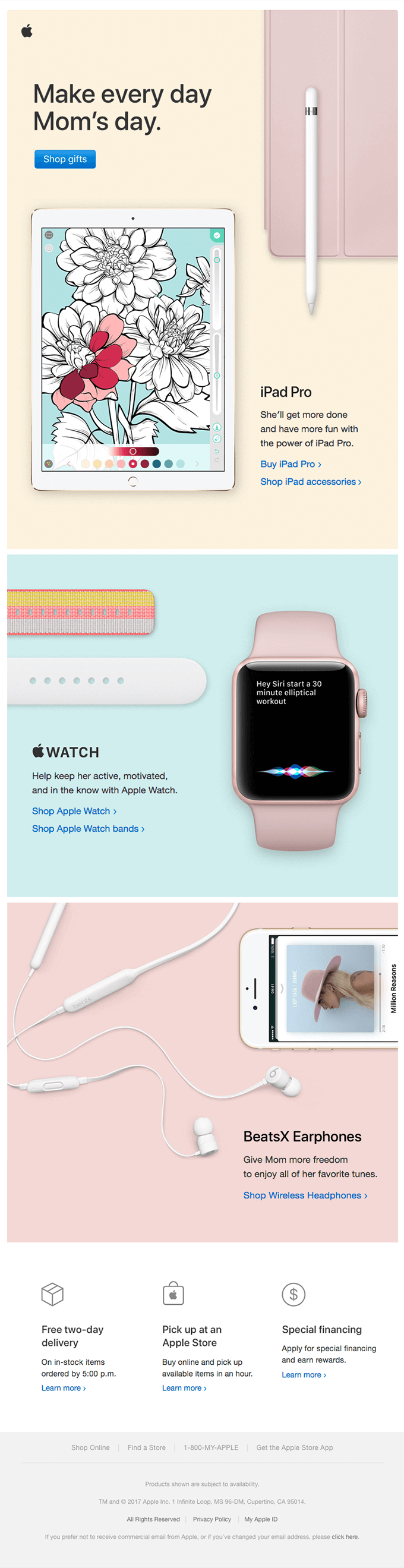 Apple Mothers Day Email