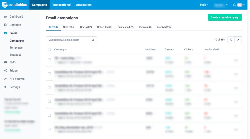 Sendinblue platform redesign