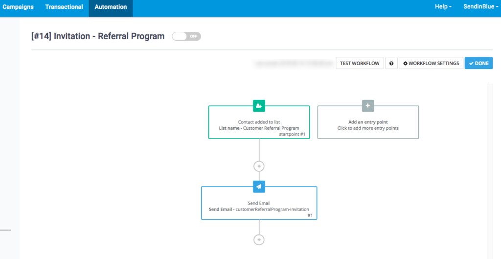 referral email automation workflow