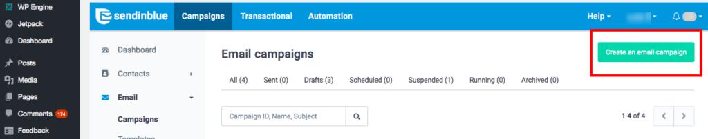 create a wordpress newsletter campaign