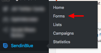 newsletter subscription forms in the sendinblue WordPress plugin