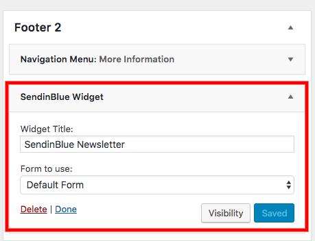wordpress widget menu