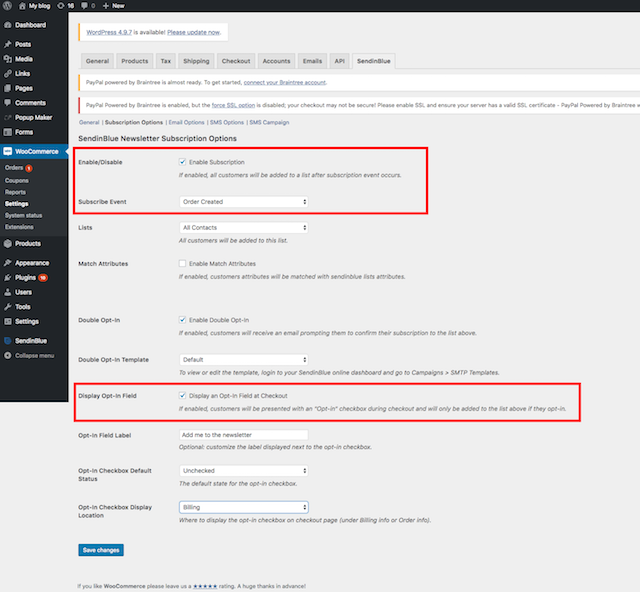 add newsletter subscription to your woocommerce checkout