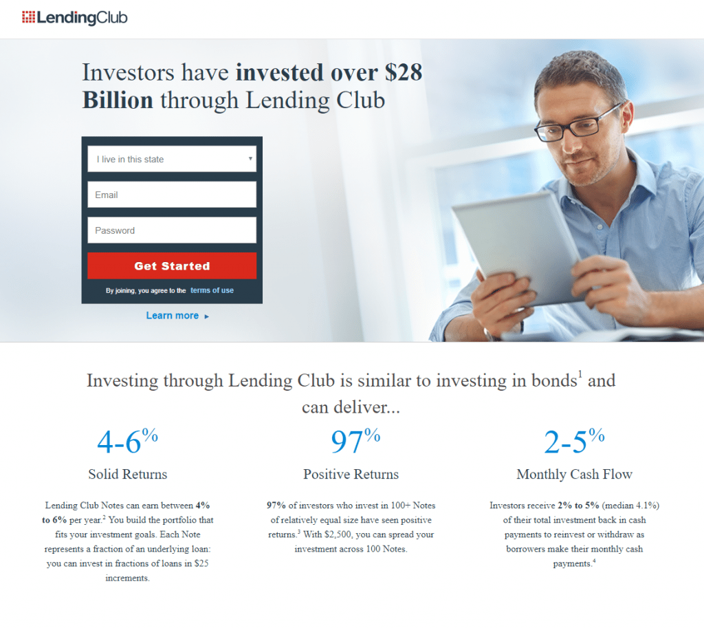 signup landing page example