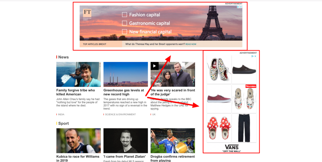 retargeting ad examples on bbc