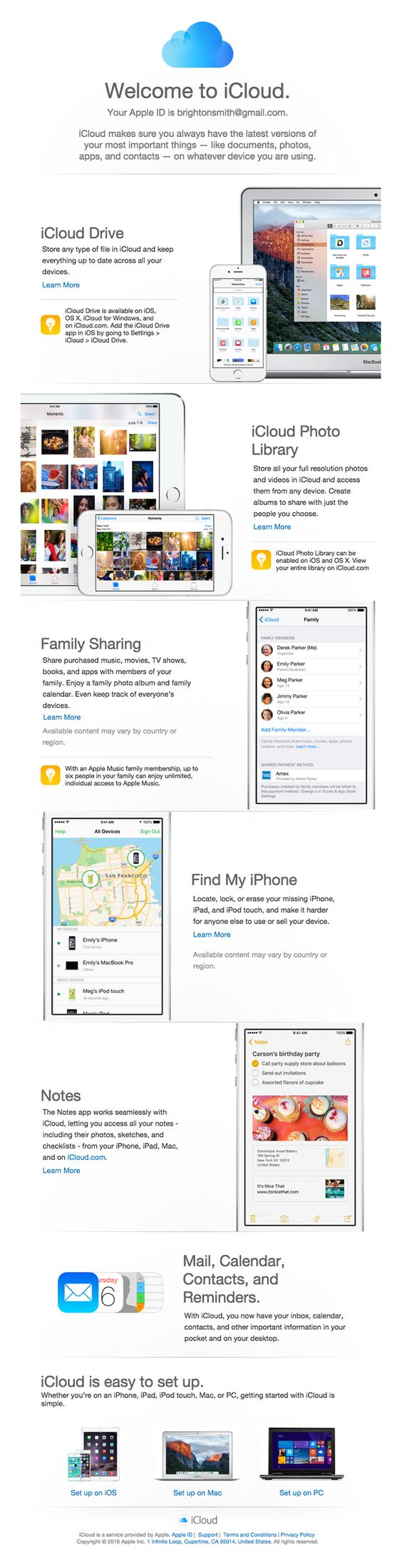 apple transactional email design good use of color
