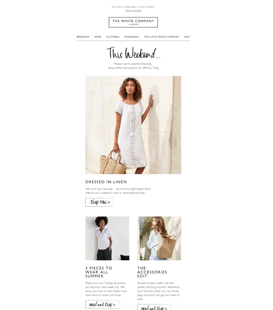 The White Company Newsletter