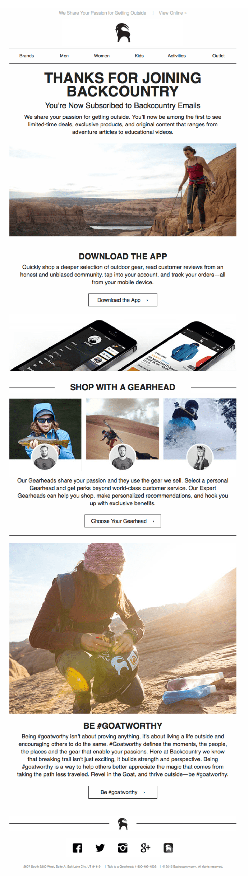 Email Marketing Example Backcountry