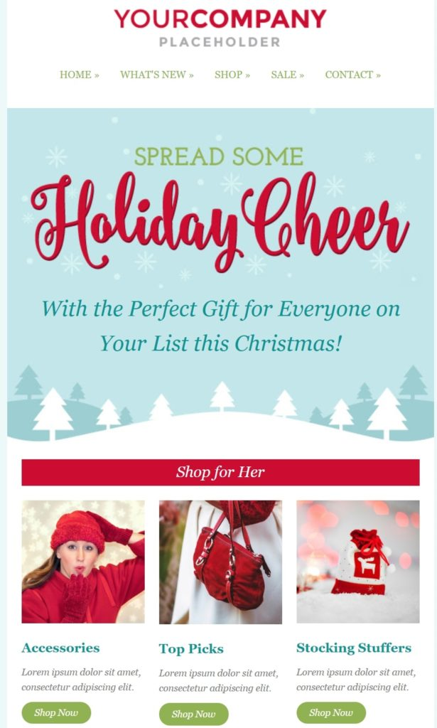 Holiday E Mail Template from www.sendinblue.com