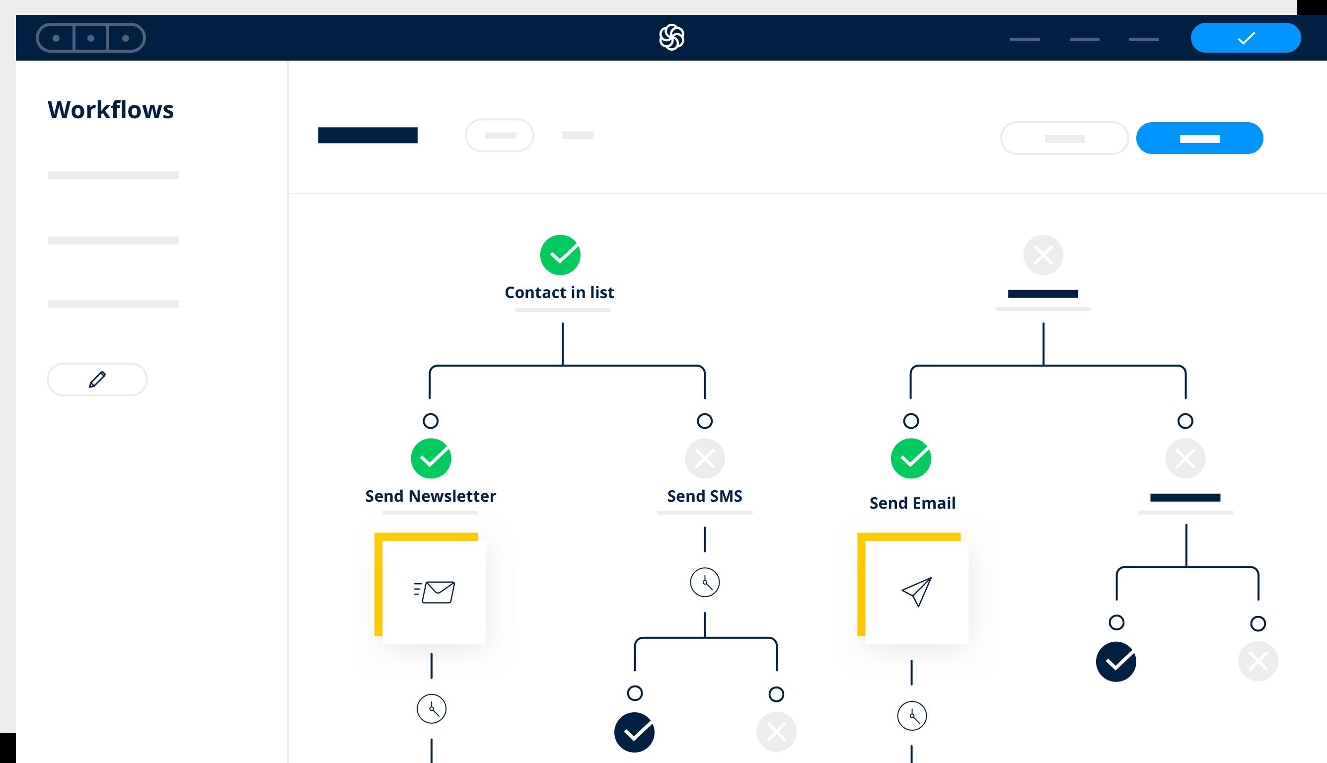 Sendinblue's marketing automation feature to automate campaigns