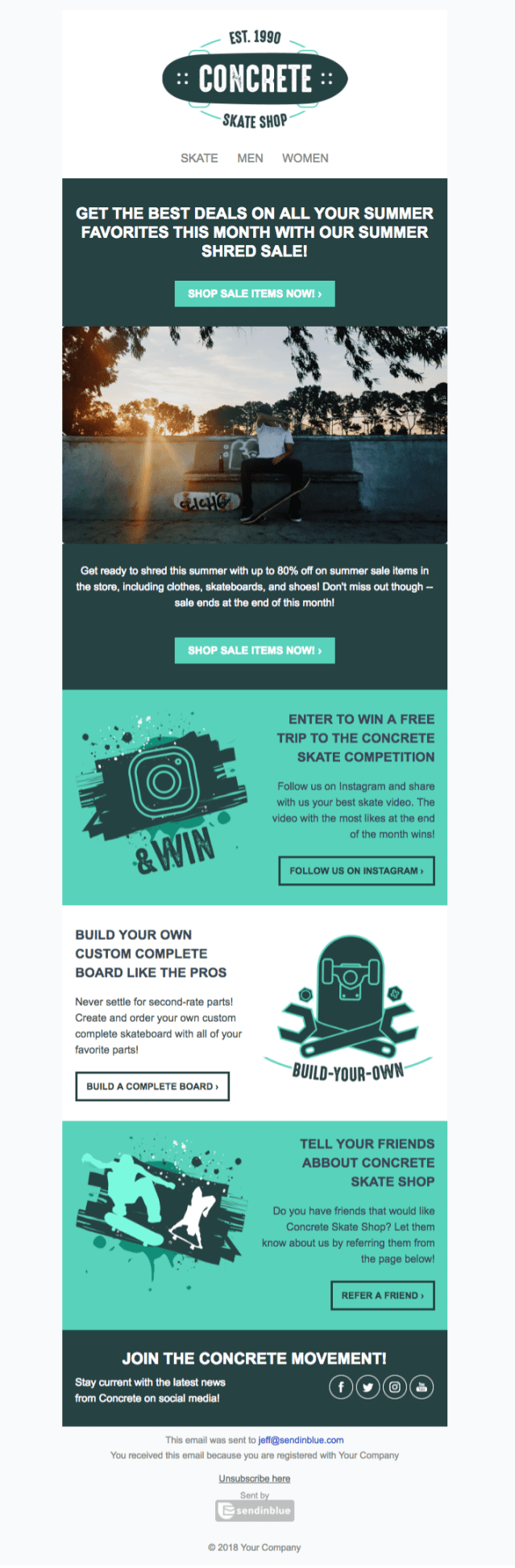 5 Free Html Newsletter Templates To Wow Your Audience Sendinblue