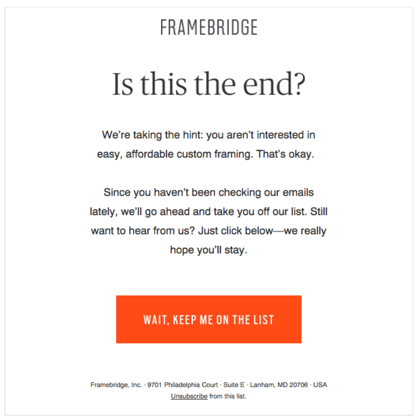 Framebridge reactivation example