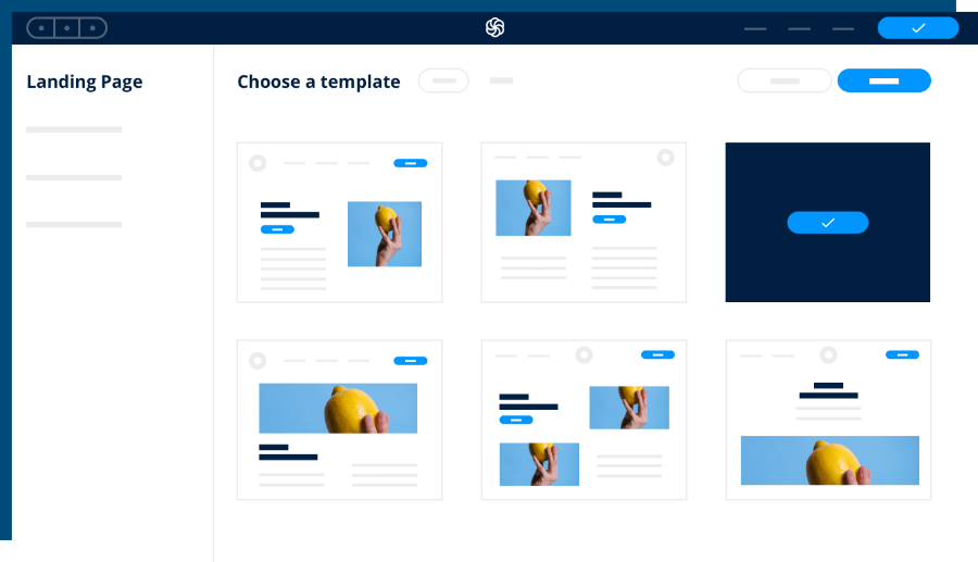 Sendinblue's landing page feature to share with your audience